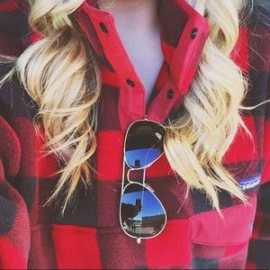 Patagonia Synchilla Snap-T Buffalo Plaid Pullover